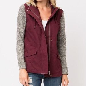 Love Tree Burgundy Jacket